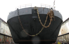 Boat with chains